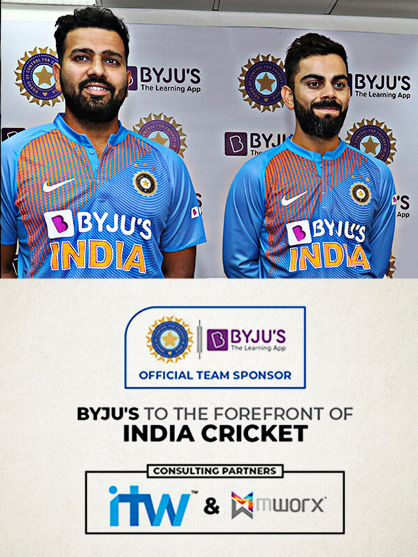 Byju's to the forefront of India cricket
